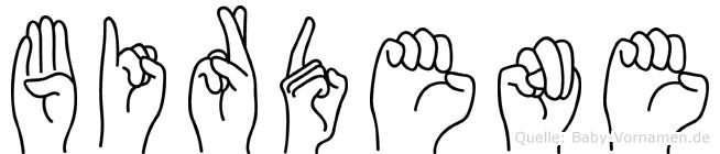 Birdene in Fingersprache für Gehörlose