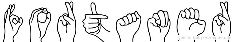 Fortaner im Fingeralphabet der Deutschen Gebärdensprache