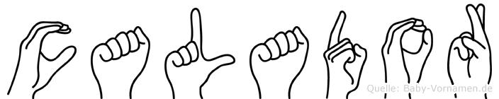 Calador im Fingeralphabet der Deutschen Gebärdensprache