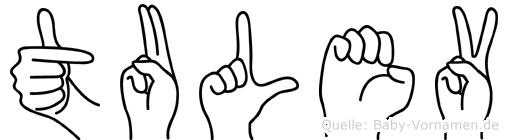 Tulev im Fingeralphabet der Deutschen Gebärdensprache