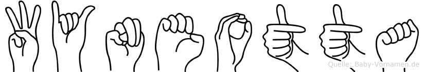 Wyneotta in Fingersprache für Gehörlose