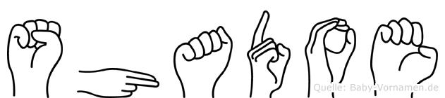Shadoe in Fingersprache für Gehörlose