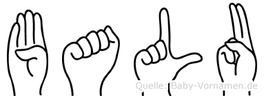 Balu in Fingersprache für Gehörlose
