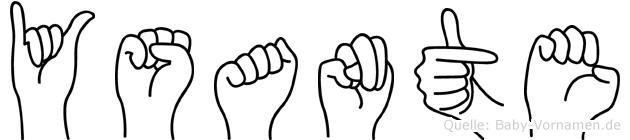Ysante im Fingeralphabet der Deutschen Gebärdensprache
