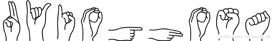 Uyioghosa im Fingeralphabet der Deutschen Gebärdensprache
