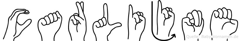 Carlijne in Fingersprache für Gehörlose