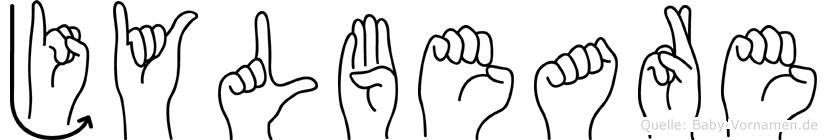 Jylbeare im Fingeralphabet der Deutschen Gebärdensprache
