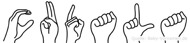 Cudala im Fingeralphabet der Deutschen Gebärdensprache