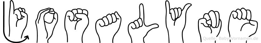 Josalyne in Fingersprache für Gehörlose