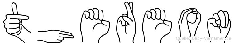 Thereon im Fingeralphabet der Deutschen Gebärdensprache