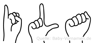 Ila im Fingeralphabet der Deutschen Gebärdensprache