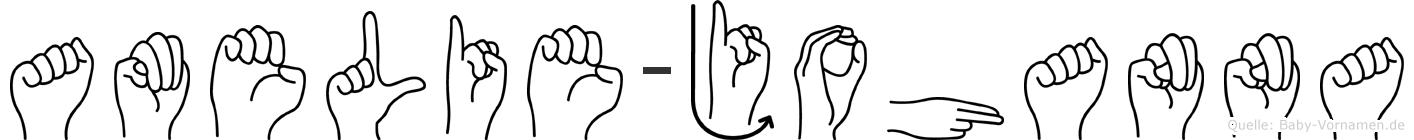 Amelie-Johanna im Fingeralphabet der Deutschen Gebärdensprache