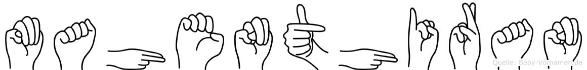 Mahenthiran im Fingeralphabet der Deutschen Gebärdensprache