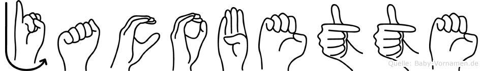 Jacobette in Fingersprache für Gehörlose