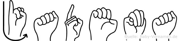 Jadema im Fingeralphabet der Deutschen Gebärdensprache