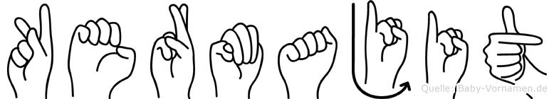 Kermajit in Fingersprache für Gehörlose