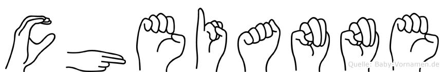 Cheianne im Fingeralphabet der Deutschen Gebärdensprache
