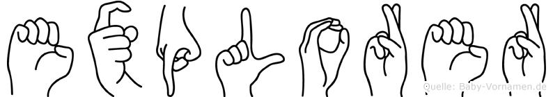 Explorer in Fingersprache für Gehörlose