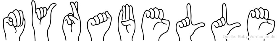 Myrabelle in Fingersprache für Gehörlose