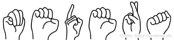 Medera in Fingersprache für Gehörlose