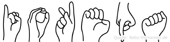 Iokepa im Fingeralphabet der Deutschen Gebärdensprache