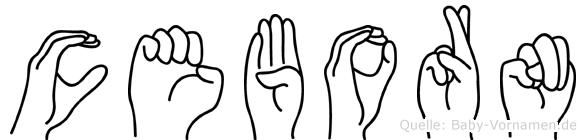 Ceborn im Fingeralphabet der Deutschen Gebärdensprache