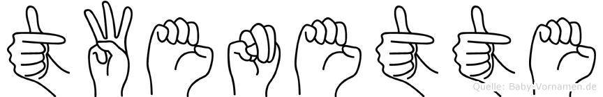 Twenette im Fingeralphabet der Deutschen Gebärdensprache