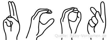 Ucok in Fingersprache für Gehörlose