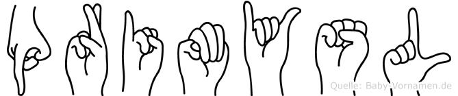 Primysl in Fingersprache für Gehörlose