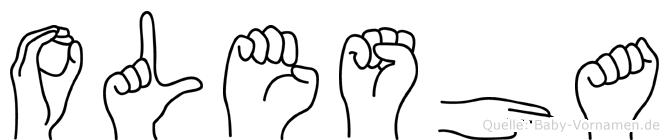 Olesha in Fingersprache für Gehörlose