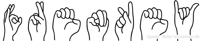 Frenkey in Fingersprache für Gehörlose