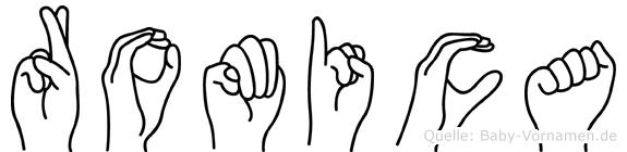 Romica in Fingersprache für Gehörlose