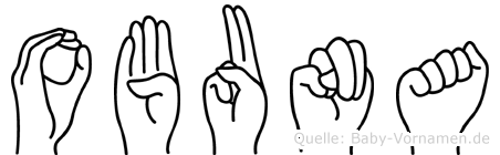 Obuna im Fingeralphabet der Deutschen Gebärdensprache
