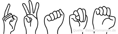 Dwane in Fingersprache für Gehörlose