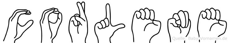 Corlene in Fingersprache für Gehörlose