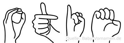 Otie im Fingeralphabet der Deutschen Gebärdensprache