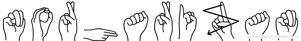 Norharizan im Fingeralphabet der Deutschen Gebärdensprache