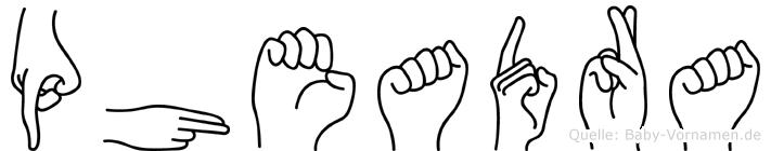 Pheadra in Fingersprache für Gehörlose