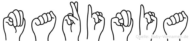 Marinia in Fingersprache für Gehörlose