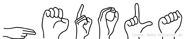 Hedola in Fingersprache für Gehörlose