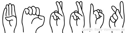 Berrik im Fingeralphabet der Deutschen Gebärdensprache
