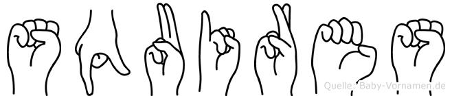 Squires in Fingersprache für Gehörlose