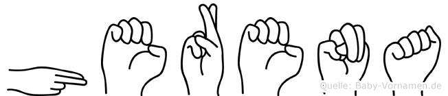 Herena in Fingersprache für Gehörlose