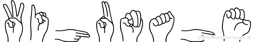 Wihunahe im Fingeralphabet der Deutschen Gebärdensprache