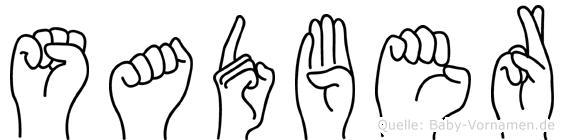 Sadber in Fingersprache für Gehörlose