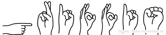 Griffis in Fingersprache für Gehörlose