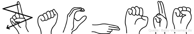 Zacheus im Fingeralphabet der Deutschen Gebärdensprache