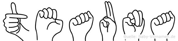 Teauna in Fingersprache für Gehörlose