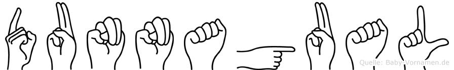 Dunnagual im Fingeralphabet der Deutschen Gebärdensprache