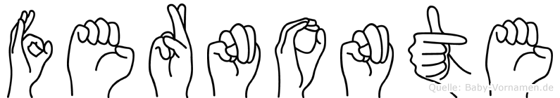 Fernonte im Fingeralphabet der Deutschen Gebärdensprache